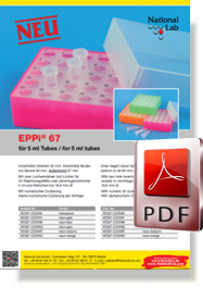 Flyer EPPi® 67 for 5 ml tubes